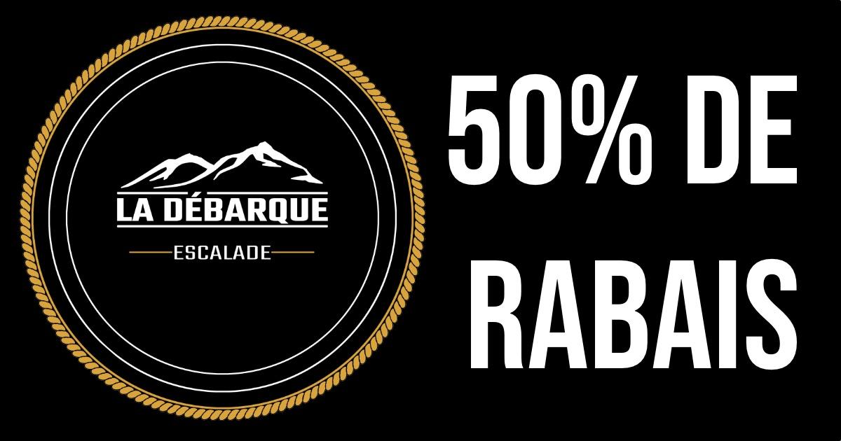 Rabais de 50% au centre La Débarque Escalade de Repentigny