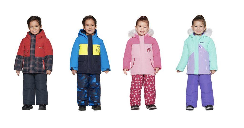 Modèles 2020 des habits de neige pour enfants, offerts chez Costco.