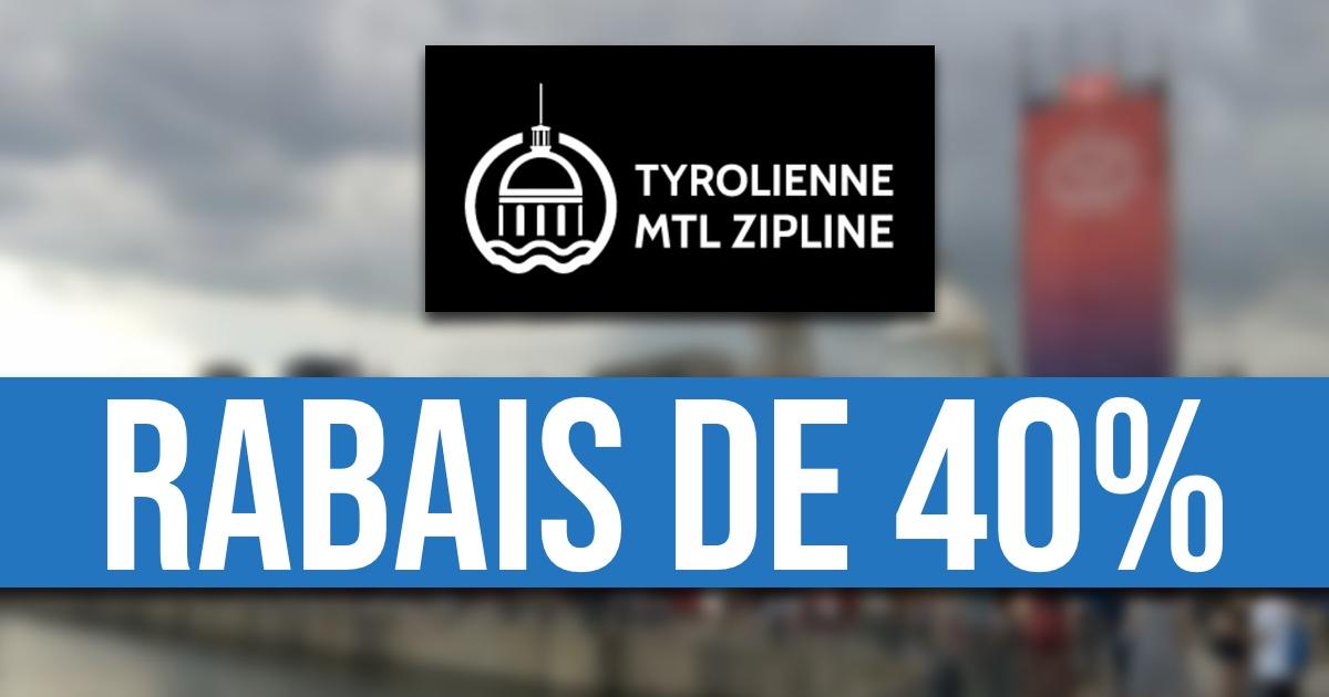 Profitez de plusieurs rabais sur une descente en Tyrolienne MTL Zipline