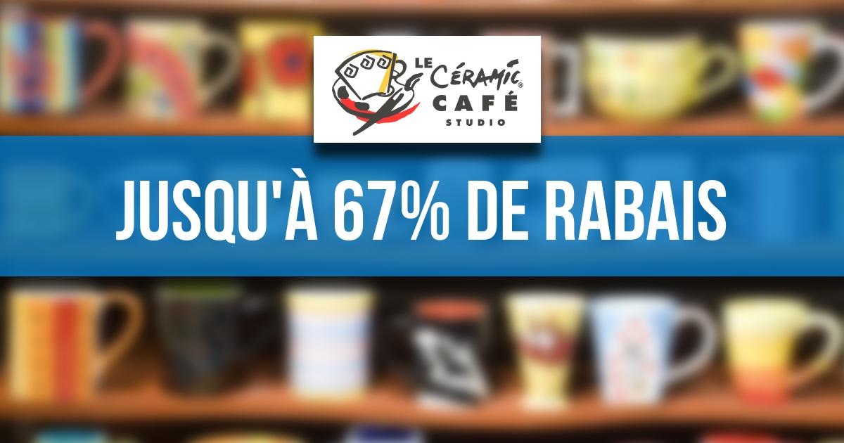 Profitez de rabais pouvant aller jusqu'à 67% chez Céramic Café Studio