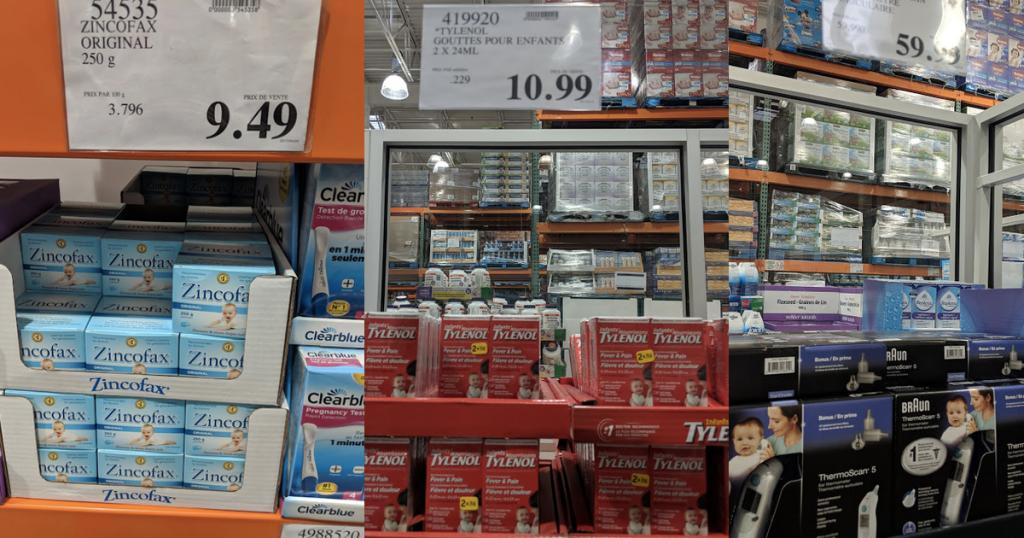 Rabais sur plusieurs articles de pharmacie pour bébés chez Costco