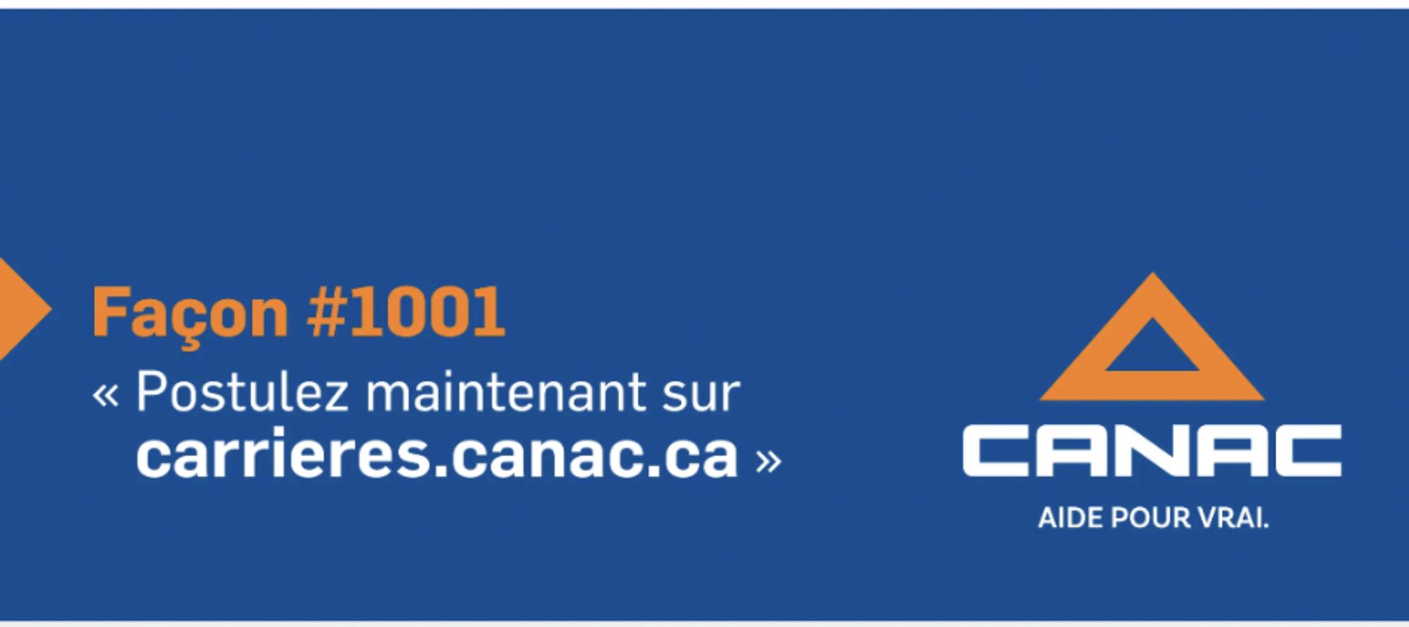 Plusieurs postes disponible chez Canac